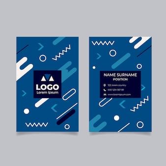 Tema de plantilla de tarjeta de visita azul clásica