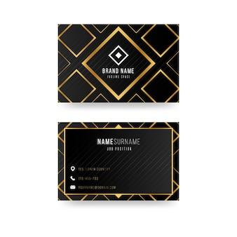 Tema de plantilla de tarjeta de visita de lujo