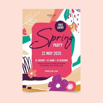 Tema de plantilla de volante de fiesta de primavera abstracta