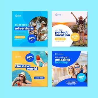 Tema de publicaciones de instagram de venta de viajes