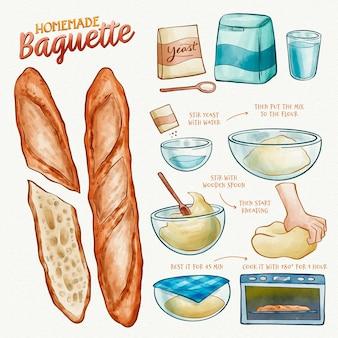 Tema de receta de pan casero