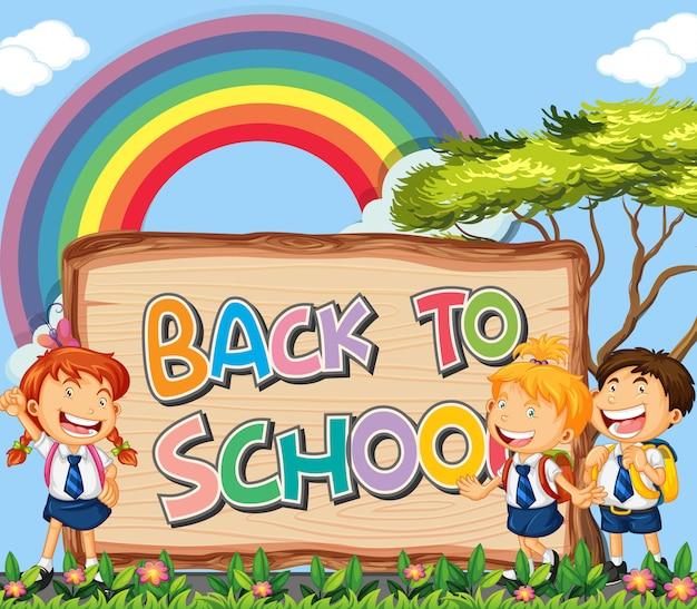 Tema de signo de regreso a la escuela