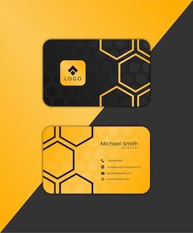 Tema de tarjeta de visita hexagonal