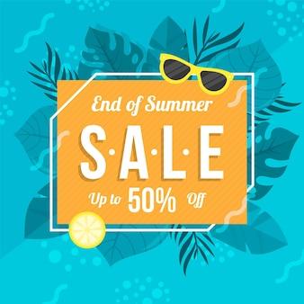Tema de venta de verano de fin de temporada