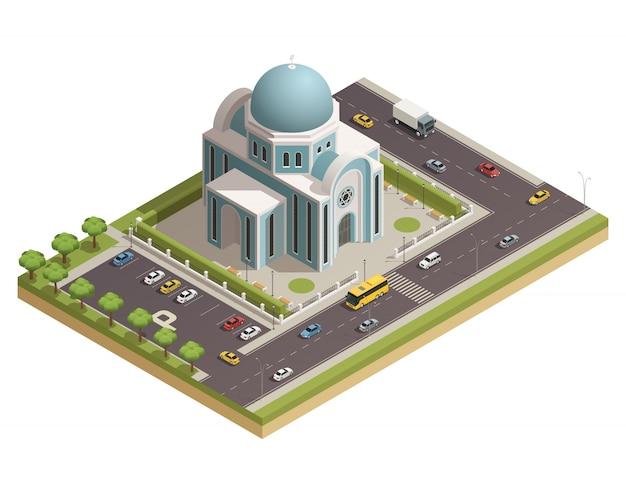 Templo clásico de culto religioso y rituales espirituales.