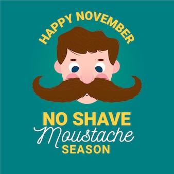 Temporada de bigote sin afeitar movember