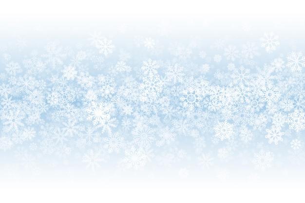 Temporada de invierno fondo en blanco