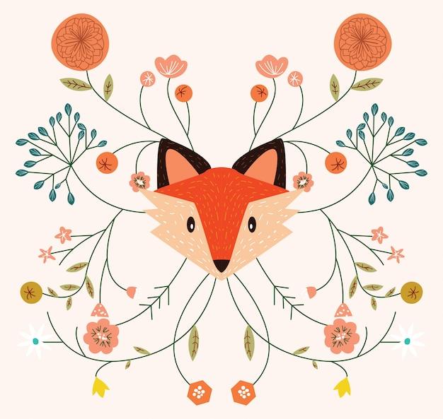 Temporada de otoño del zorro