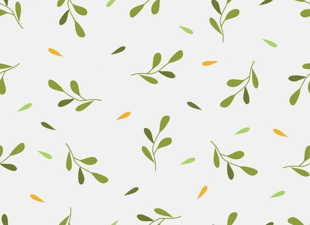 Temporada de primavera de flores tropicales de patrones sin fisuras.