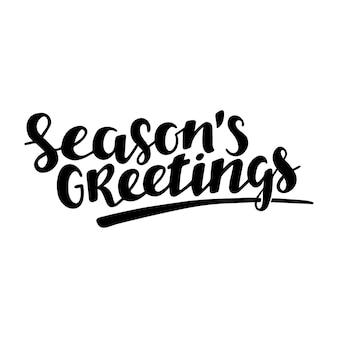Temporada saludo cita letras dibujadas a mano