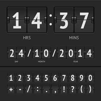 Temporizador de cuenta regresiva y números de marcador