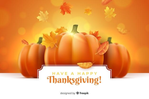 Tener un feliz fondo de acción de gracias