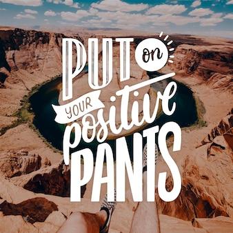 Tener pensamientos optimistas letras positivas