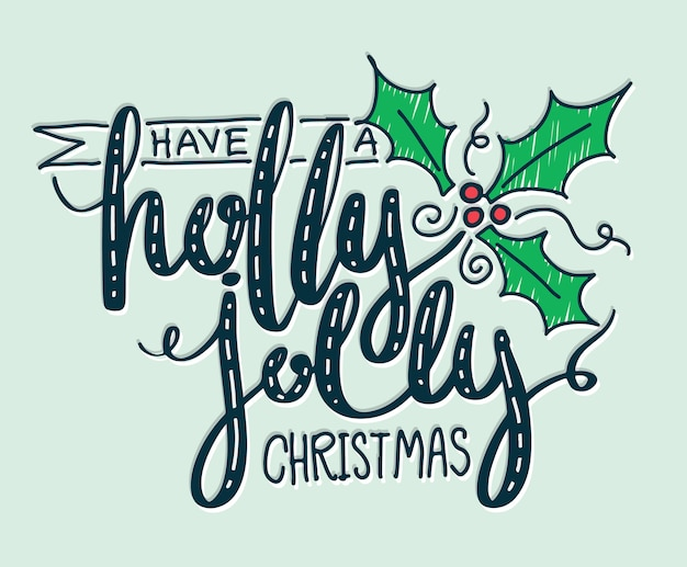 Tener una acebo alegre letras de navidad