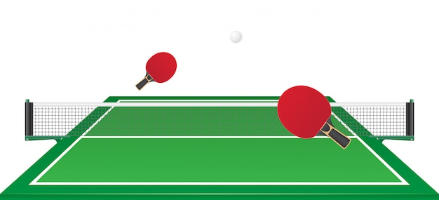 Tenis de mesa ping pong ilustración vectorial