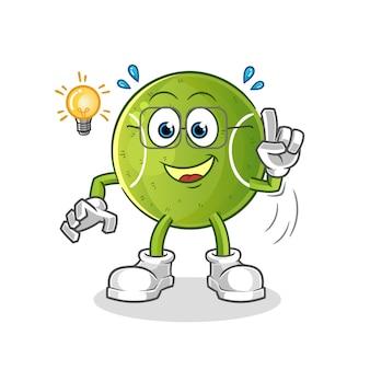 El tenis tiene una ilustración de la idea. vector de personaje