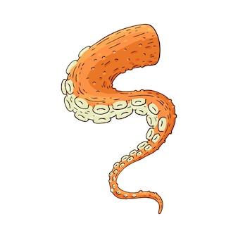 Tentáculo de pulpo aislado