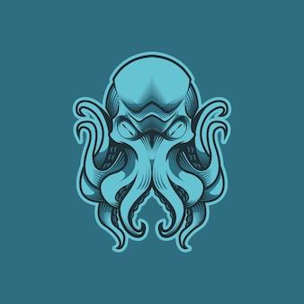 Tentáculo de pulpo azul