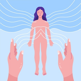 Terapia de reiki con energía femenina