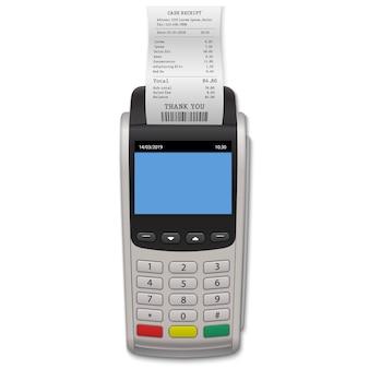 Terminal de pago realista