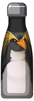 Termo negro con estampado de pingüinos.