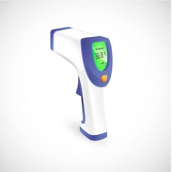 Termómetro infrarrojo realista sin contacto