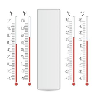 Termómetro meteorológico realista