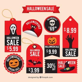 Terroríficas etiquetas de descuento para halloween