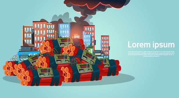 Terrorismo ataque ciudad bombardeo terrorista peligro
