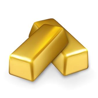 Tesoro de inversión de finanzas de pila de barras de oro