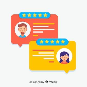 Testimonial con diseño de burbuja de texto