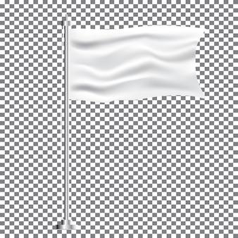 Textil blanco ondeando la bandera vacía