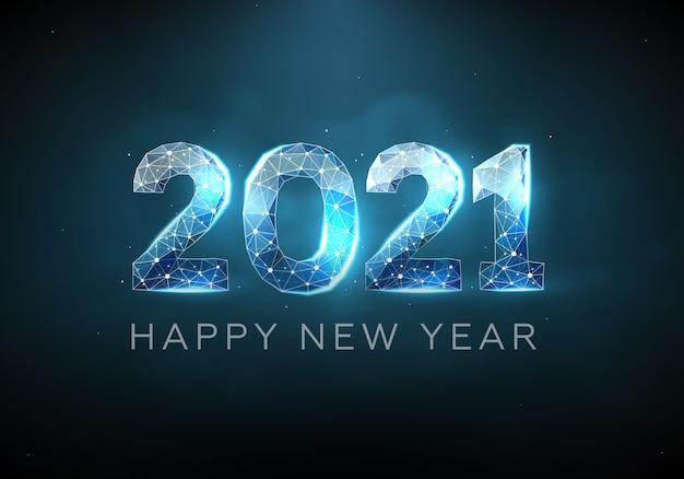 Texto 2021 en estilo futurista para el diseño de la portada