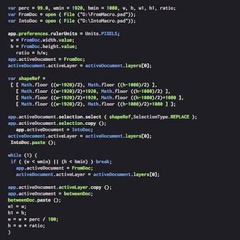 Texto de código java digital.