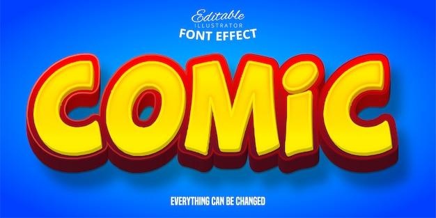 Texto cómico, efecto de fuente editable 3d