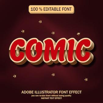 Texto cómico, efecto de fuente editable