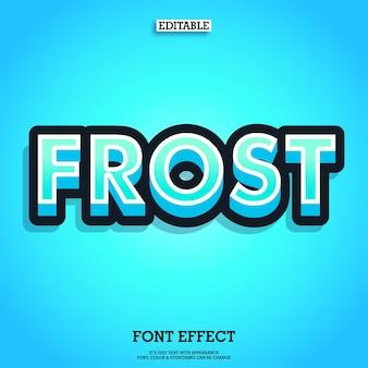 Texto congelado con efecto de hielo fresco