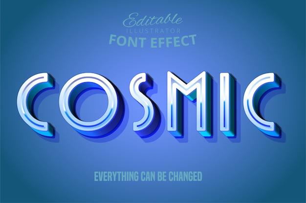 Texto cósmico, efecto de fuente editable 3d