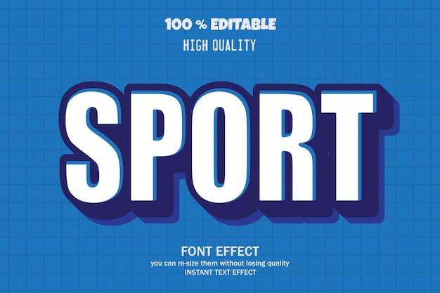 Texto deportivo, efecto de fuente editable