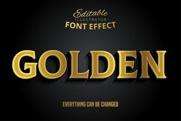 Texto dorado, efecto de fuente editable