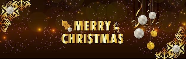 Texto dorado realista para feliz celebración navideña