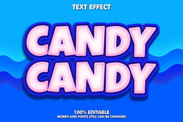 Texto editable de caramelo rosa y azul