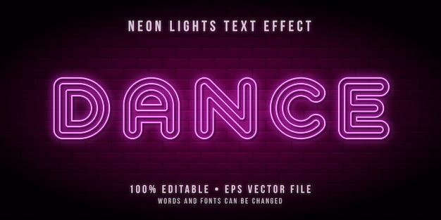 Texto editable con efecto de luces de tubo de neón