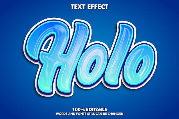 Texto editable de holografía de moda