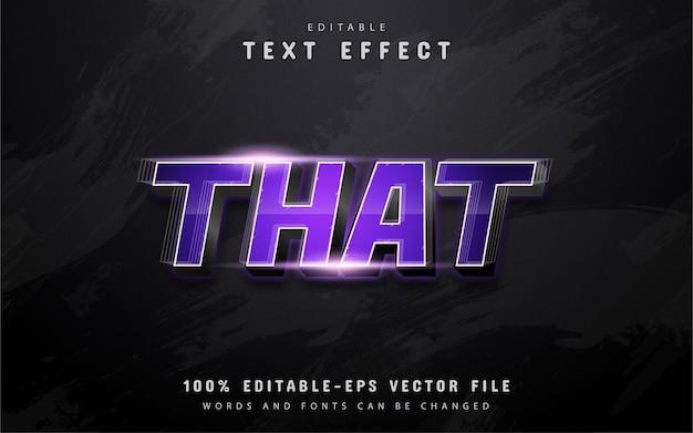 Ese texto, efecto de texto degradado púrpura