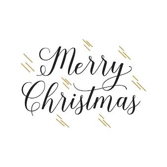 Texto escrito a mano de la feliz navidad