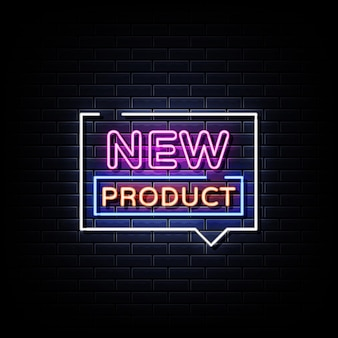 Texto de estilo de letreros de neón de nuevo producto