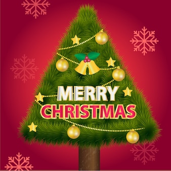 Texto feliz navidad con fondo rojo