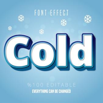 Texto frío, efecto de fuente editable