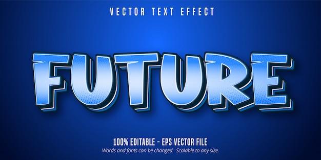 Texto futuro, efecto de texto editable estilo pop art